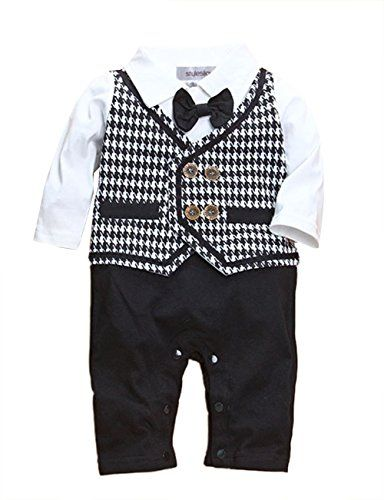 c02c0ab0b StylesILove Baby Boy Tuxedo Special Event Romper Onesie 1218 Months >>>  Details can be found by clicking on the image.