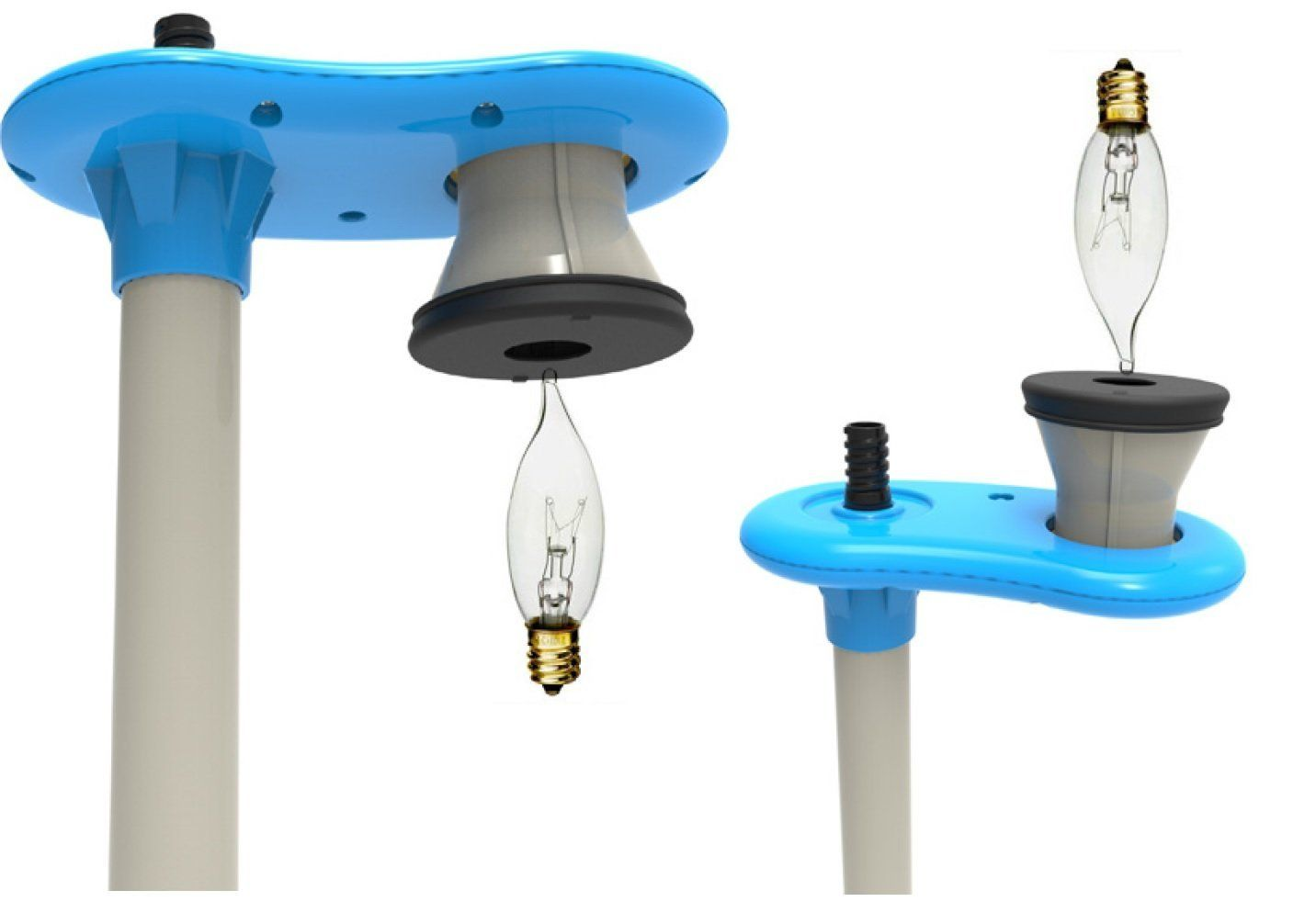 The Highlight Bulb Changer Pole Changes Upward And Downward Facing Bulbs In Hard To Reach Places 6 Feet Of Extension Patent Bulb Chandelier Ceiling Fixtures