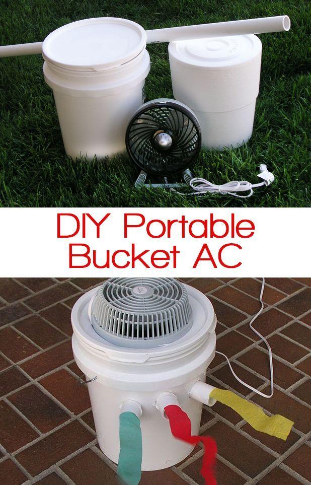 DIY Portable Bucket Air Conditioner Bucket air