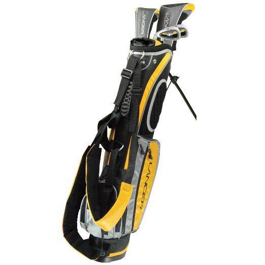 Amazon Com Intech Lancer Junior Golf Set Left Handed Age 4 To 7 17 5 Degree Driver 4 5 Hybrid Iron Wide Sole Best Golf Clubs Kids Golf Clubs Golf Clubs