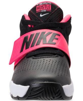 Boys' Nike Little Kid Team Hustle D8 High Top Basketball Shoes