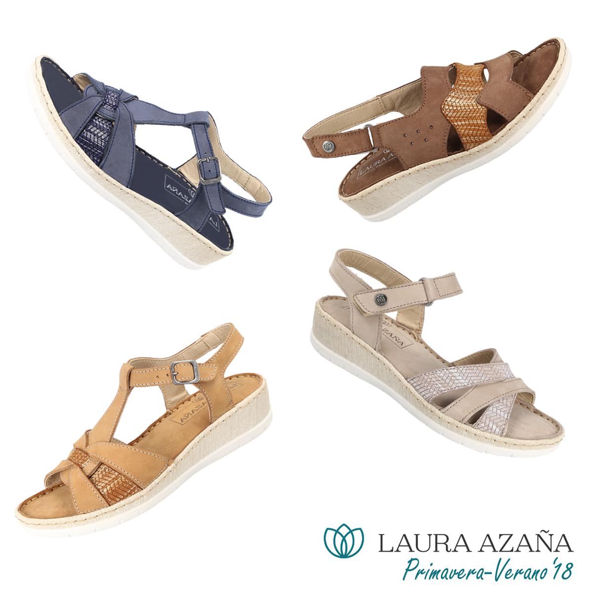 e86f8e06ff Comodísimas sandalias de piel para mujer. ¡Descubre la colección primavera- verano 2018 de Laura Azaña!