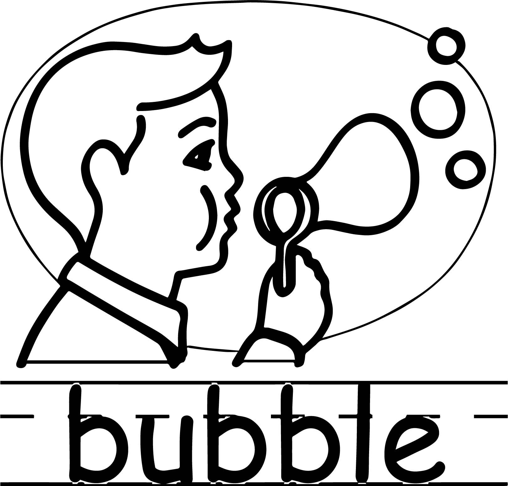 Cool Bubble Abc Teach Coloring Page