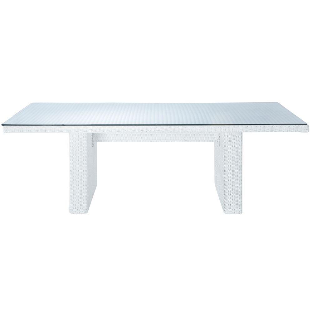 Maison du monde Ambiance scandinave Table de jardin en verre trempé ...