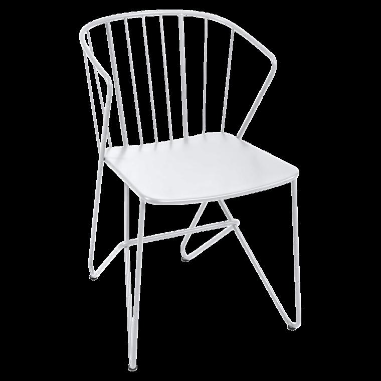 Chaise Metal Original Design De Jardin Blanche