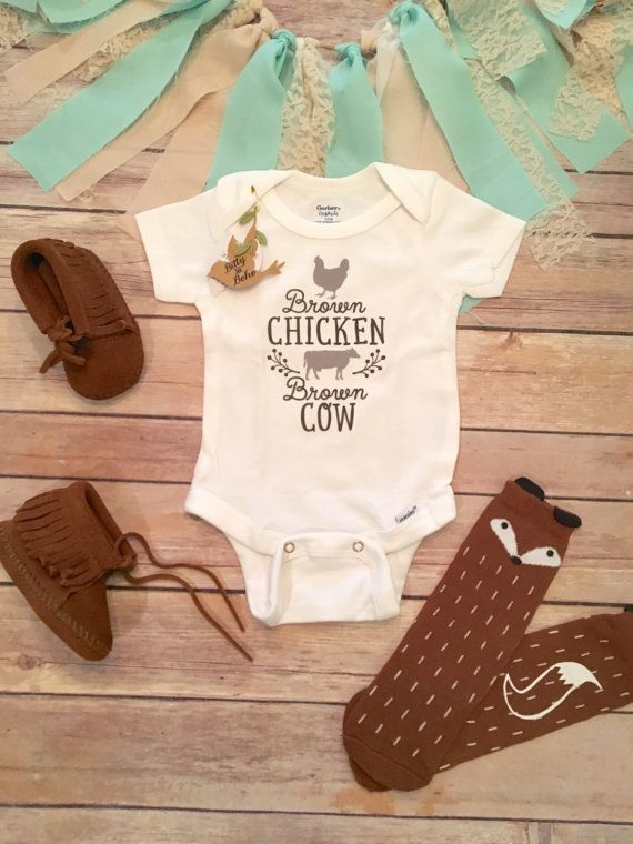 Funny Baby Onesies 174 Unique Baby Gift Rustic Baby Cow