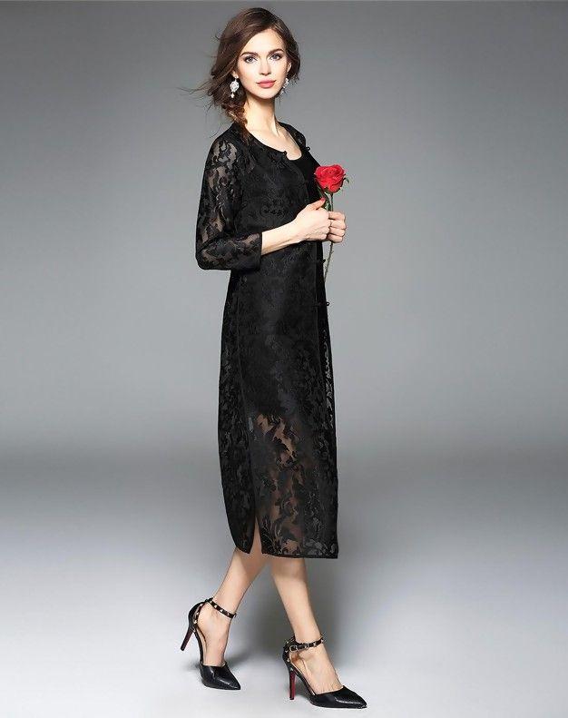 3 4 maxi dress cardigan