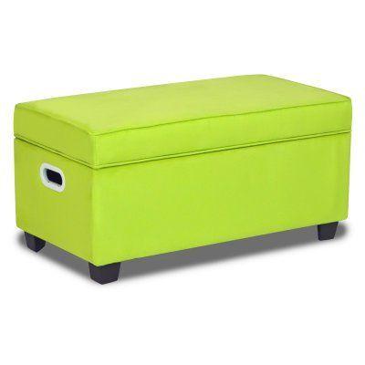 Zippity Kids Jack Upholstered Storage Bench - Sour Apple Green - 2073SA
