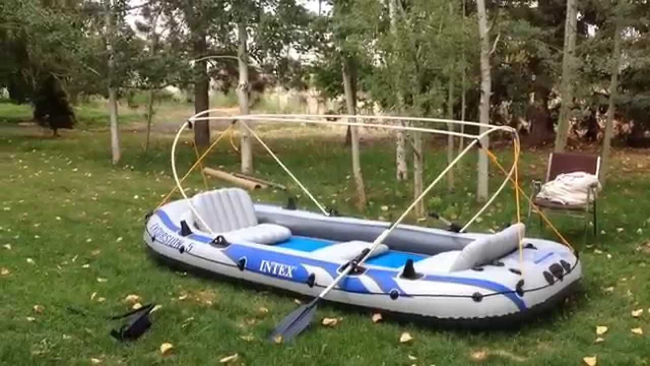 Intex Excursion 5 modifications by BackRoom Labs | boating