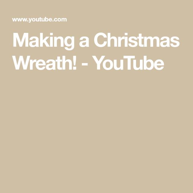 Making a Christmas Wreath!