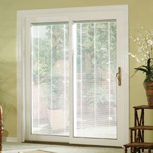 Sliding Gl Doors With Built In Blinds Patio Vinyl Door