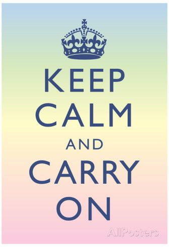 Keep Calm and Carry On Motivational Rainbow Art Print Poster ...