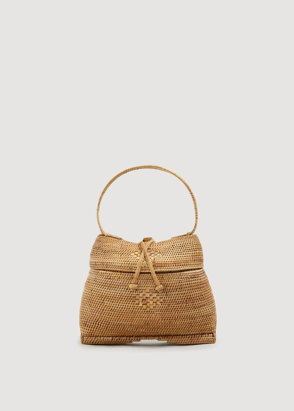 Bamboo Basket Bag Women In 2019 Accessories Bags Basket Bag