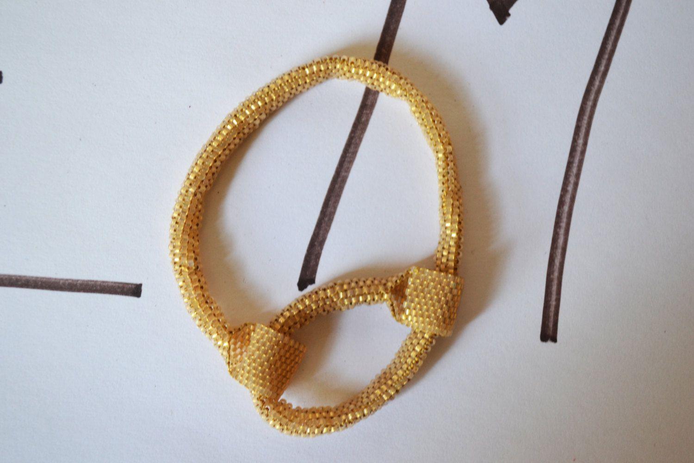 Beaded Bracelet Unique Design Vintage Jewelry #BBR 4 by eventsmatters on Etsy