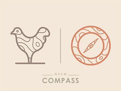 Dribbble - Compass by Yoga Perdana