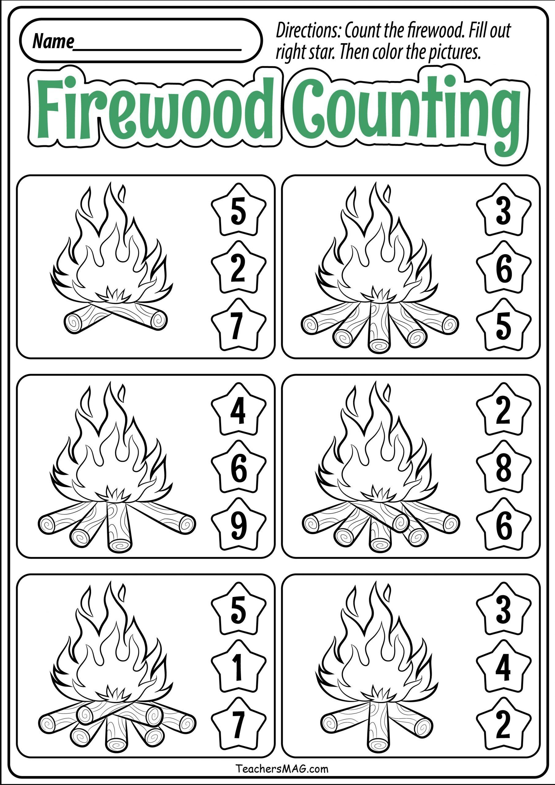 Fall Worksheets For Kindergarten Preschool Fall Math
