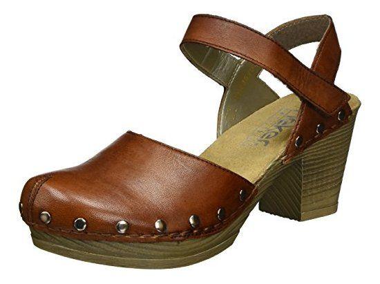 Rieker Damen Geschlossene Sandalen mit Blockabsatz