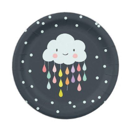 sc 1 st  Pinterest & Cloud Paper Plates Baby shower Sprinkle neutral
