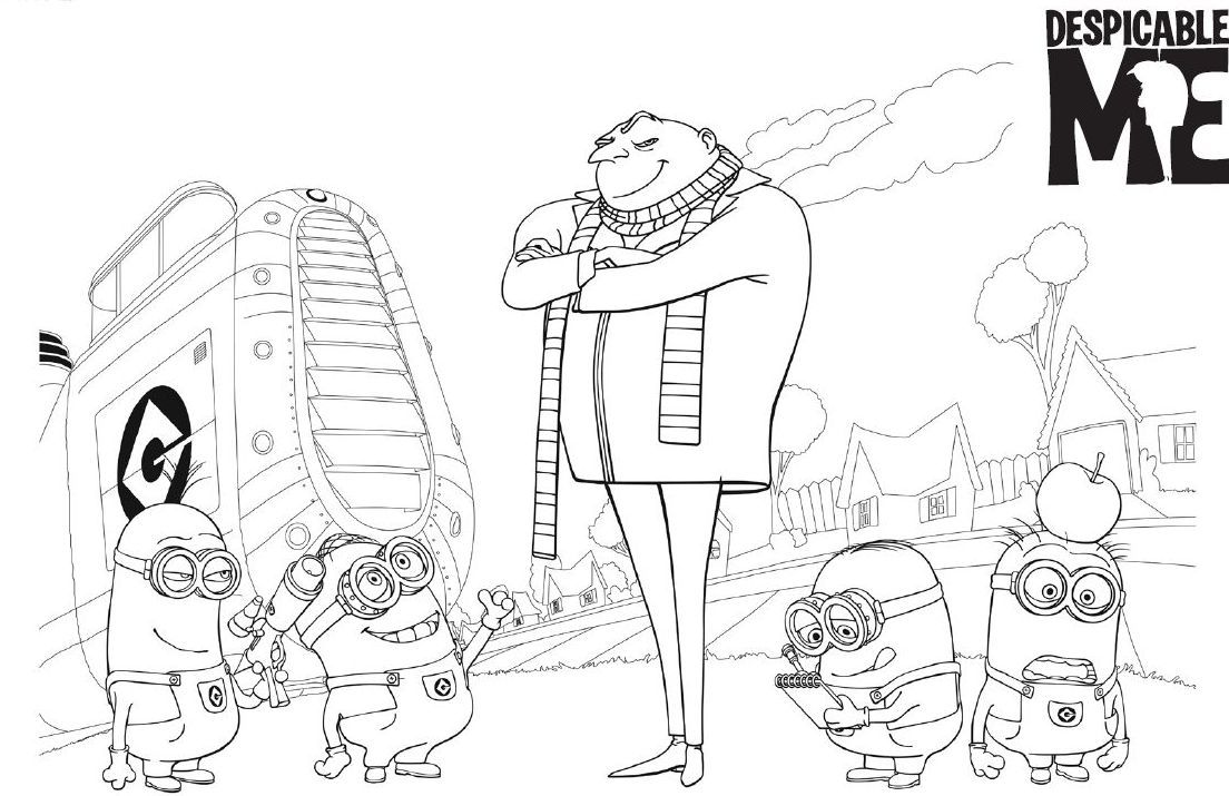 Fr free coloring pages despicable me - 17 Best 1000 Images About Minions On Pinterest Coloring Despicable