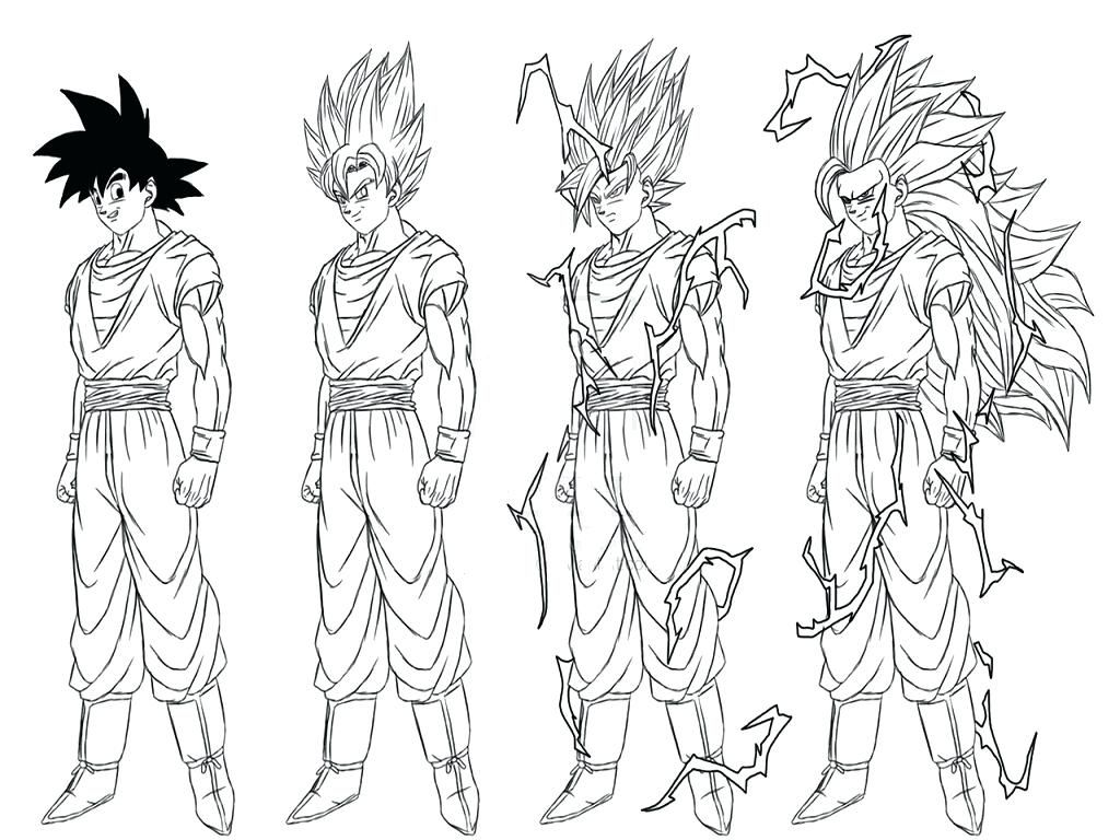 Dragon Ball Z Coloring Pages Gokudbz Goku Bardock Ideas In Super Saiyan 5