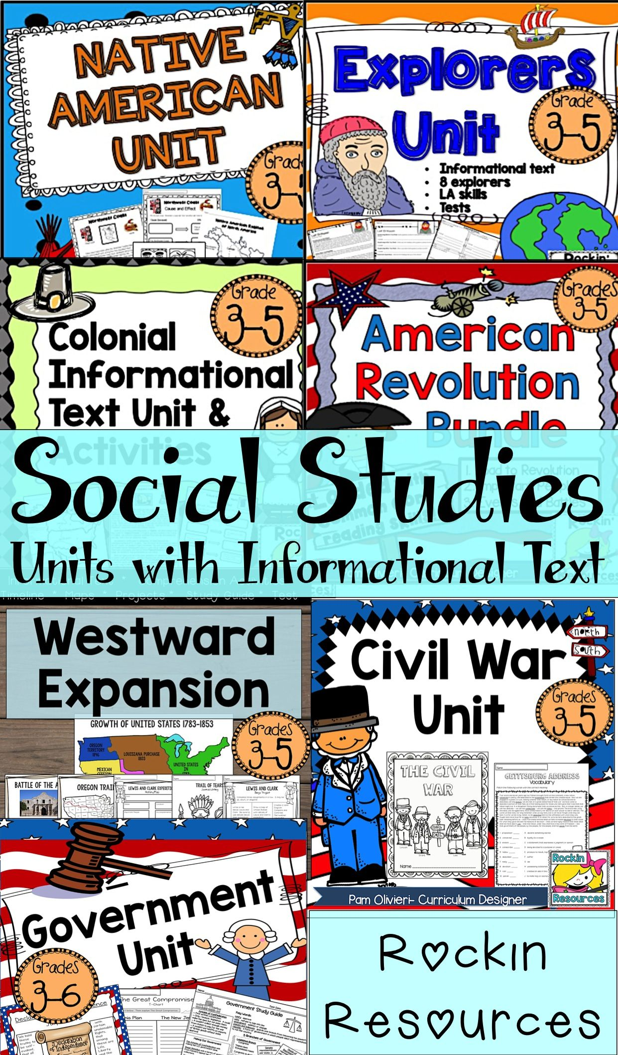American History U S History Mega Bundle Informational