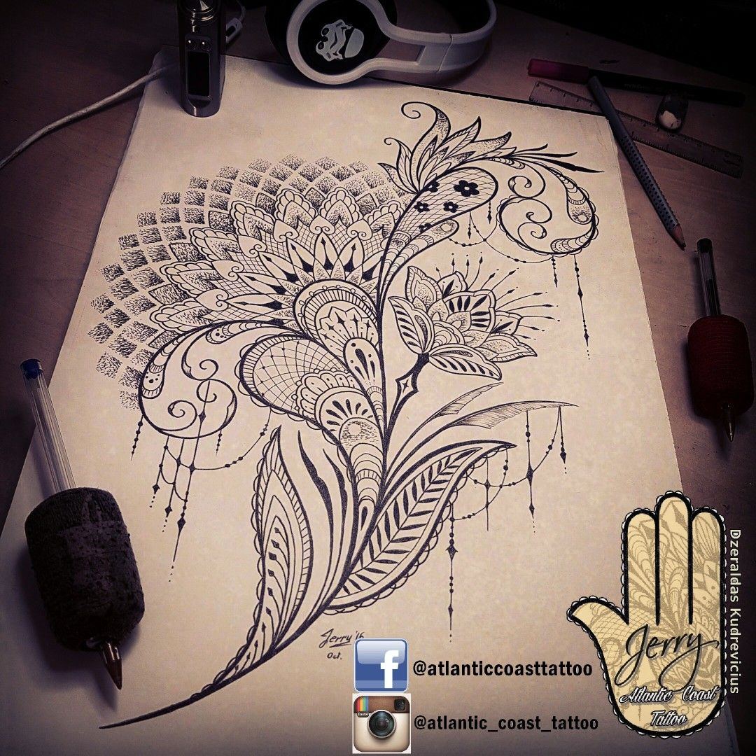 beautiful tattoo idea design by dzeraldas jerry tattoo ideas designs mandala lace. Black Bedroom Furniture Sets. Home Design Ideas
