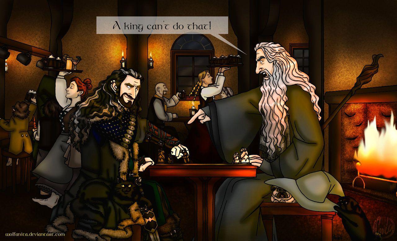 Commission: The Hobbit: Game of Kings by wolfanita.deviantart.com on @DeviantArt