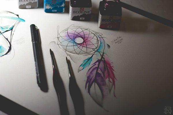 dreamcatcher watercolor - Buscar con Google