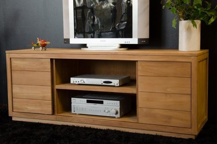 Meuble TV en teck NAMEA 160 cm meuble tele Pinterest TVs - Moderniser Un Meuble Ancien