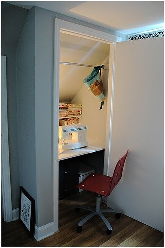 sewing rooms in small spaces | small spaces sewing room | living small