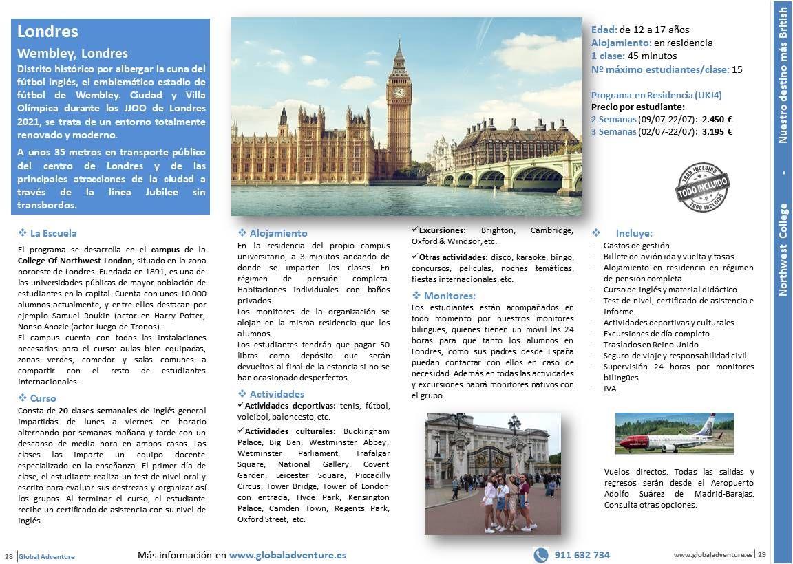 Curso De Inglés En Wembley Londres Londres Aeropuerto Madrid Barajas Curso De Inglés