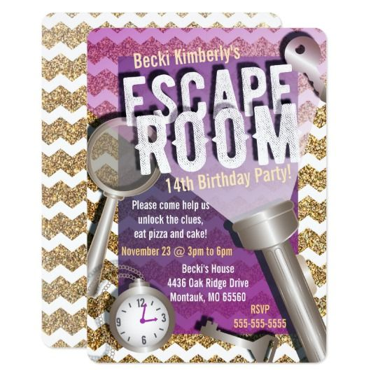 Are You Having An Escape Room Party? These Invitations Are