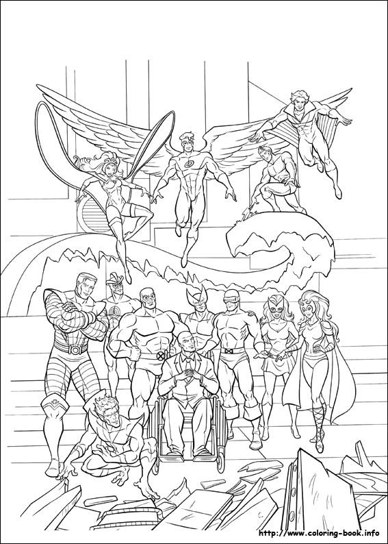 Xmen 36 Jpg 567 794 Coloring Books Coloring Pages Avengers Coloring Pages
