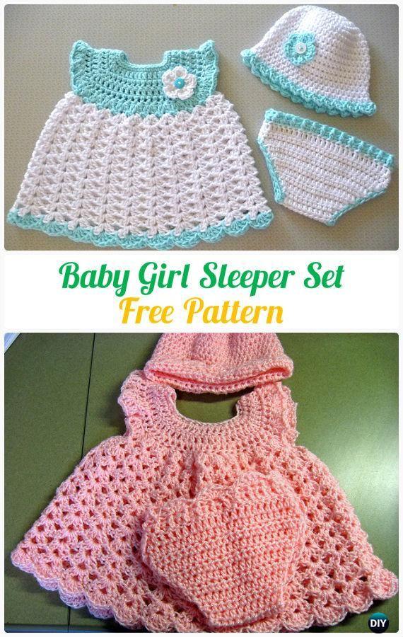 Ganchillo del bebé durmiente Modelo determinado libre - Crochet ...