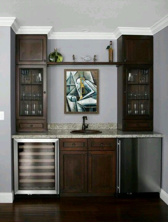 Full Cabinets On Sides Wet Bar Bat Designs Ideas