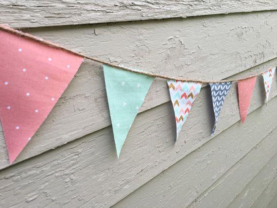 Nursery Decor Fabric Bunting