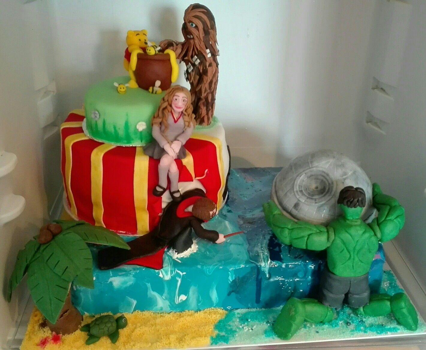 40 40 80 Gegensatz Torte Zum 40 Geburtstag Eines Ehepaares Harry Potter Hulk Star Wars Winnie Puh Karibik London Hulk Geburtstag Karibik