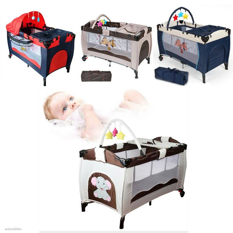Portable Infant Child Baby Playard Travel Cot Bed Playpen Bassinet Entryway Travel Cot Cot Bedding Baby Playpen
