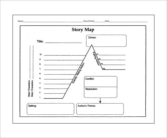 10 story map templates free word pdf format download for Story outline template for kids