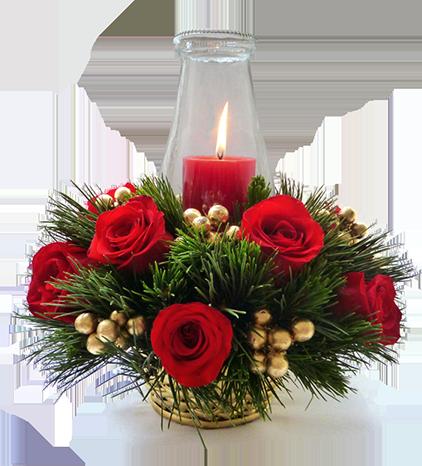 Resultado de imagen de arreglos florales navideos Arreglos