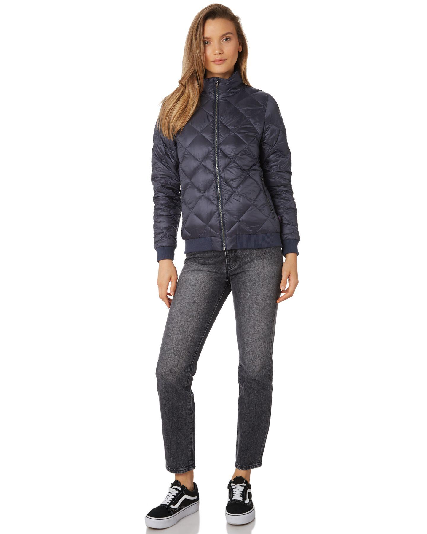 Patagonia Womens Prow Bomber Jacket Smolder Blue Surfstitch Puffer Jacket Women Coats Jackets Women Jackets For Women [ 1800 x 1440 Pixel ]
