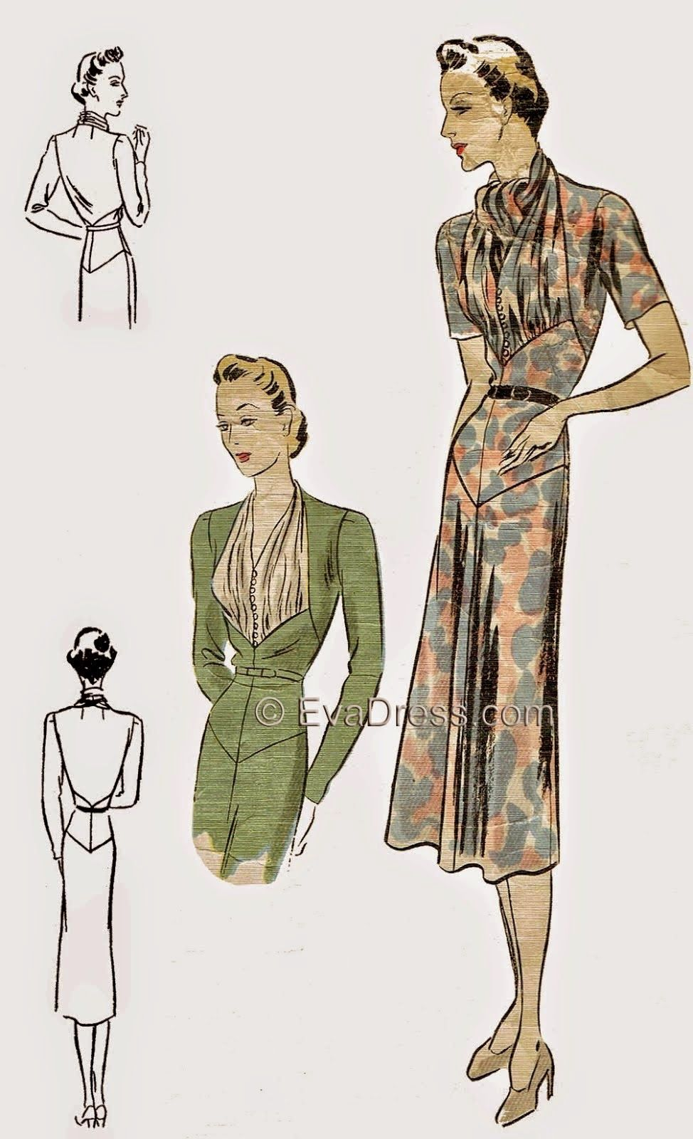Stunning 1937 pattern for #vintagepledge | vintage sewing - 2 ...