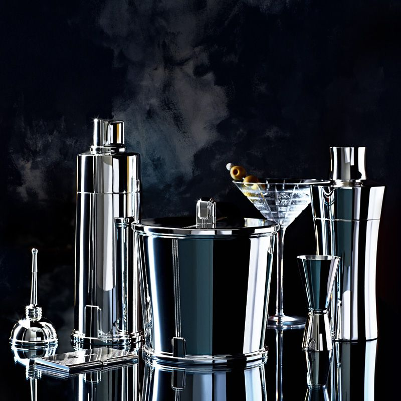 Superior Tiffany Barware: Oilcan Vermouth Dispenser In Sterling Silver, Century  Cocktail Shaker In Sterling Silver, Century Ice Bucket In Sterling Silver,  ...