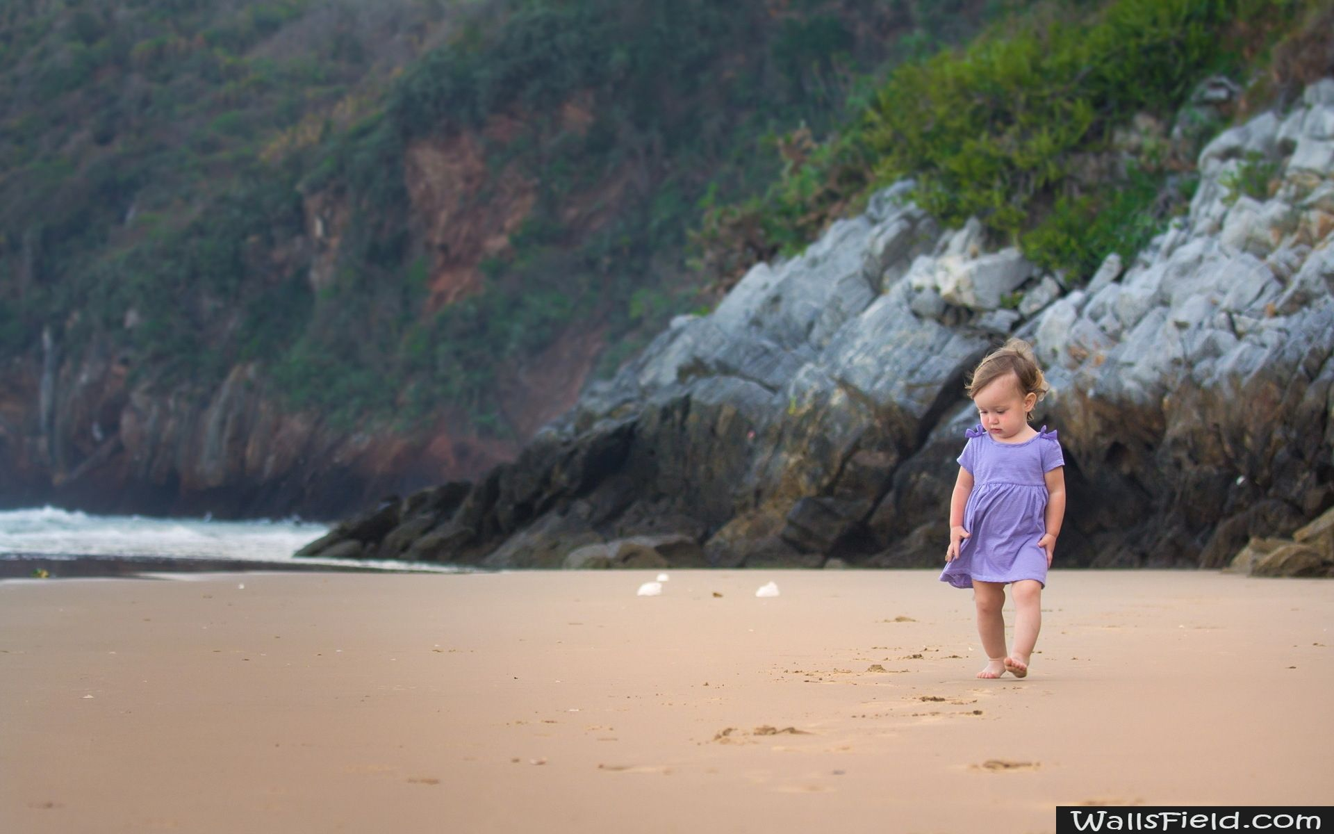 Alone Baby in Beach