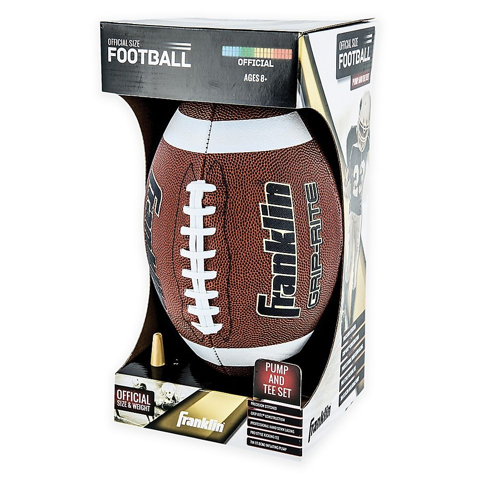 Franklin Sports Grip Rite Pump And Tee Football Set Brown