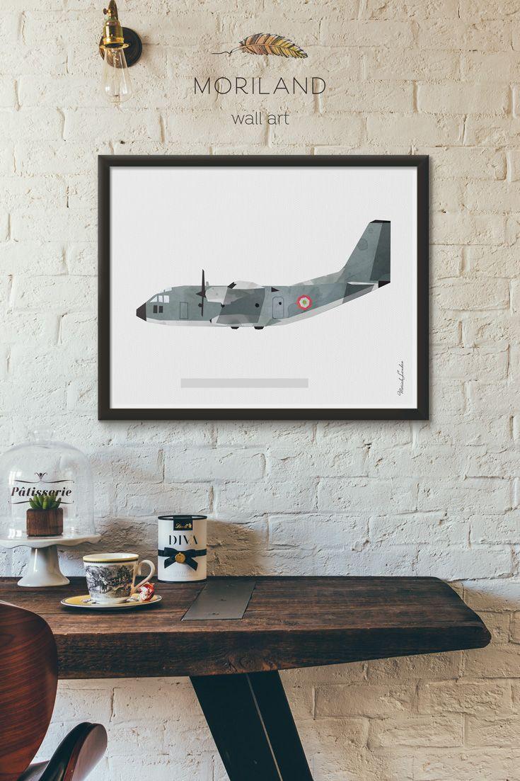 Lockheed C 130 Hercules Print Army Aircraft Wall Art Airplane Decor