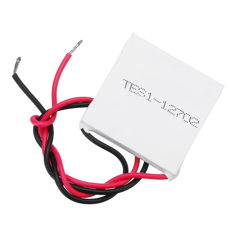 Tes1 12702 12v 25x25mm Small Thermoelectric Cooler Peltier Refrigeration Plate Cooler Guitar Hanger Diy Kits