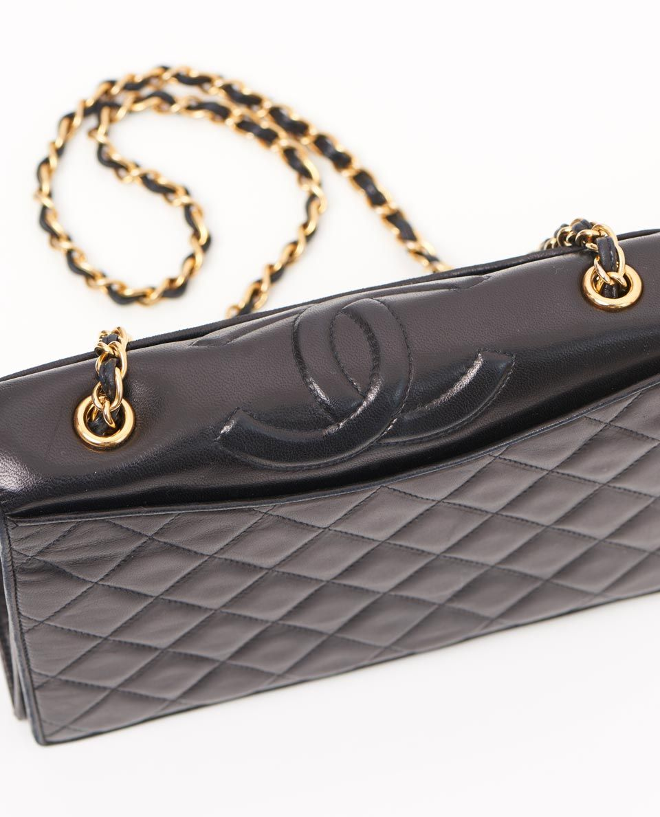 vintage chanel cc lambskin quilted shoulder bag top | Beautifully ... : vintage chanel quilted shoulder bag - Adamdwight.com