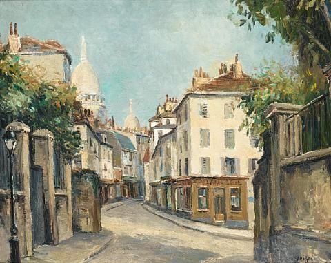 Une Rue A Montmartre Pres Du Sacre Coeur By Alphonse Leon Quizet