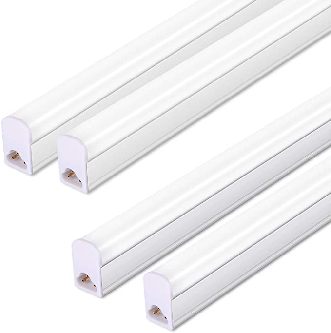 Pack Of 4 Led T5 Integrated Single Fixture 3ft 15w 6000k 1500lm Linkable Utility Shop Lights Led In 2020 Fluorescent Tube Fluorescent Tube Light Shop Lighting